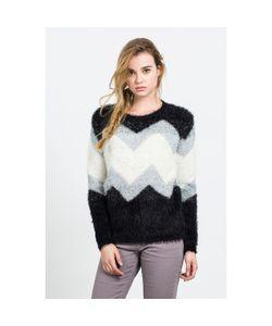 Compania Fantastica | Пуловер Крупной Вязки С Геометрическим Рисунком Naikari