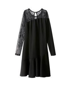 MADEMOISELLE R | Платье С Баской Из Кружева И Вискозы