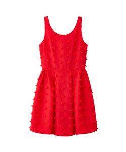 Molly Bracken | Платье Расклешенное Без Рукавов Вышивка Помпоны
