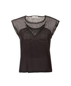 SCENARIO | Блузка С Ажурными Вставками Короткие Рукава