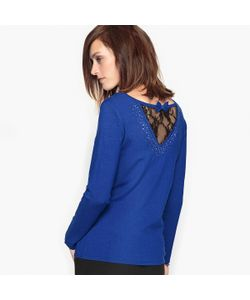 ANNE WEYBURN | Пуловер С Украшением Из Мягкого Трикотажа