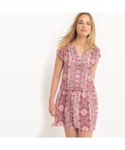 SUD EXPRESS | Платье Струящееся С Короткими Рукавами И Рисунком