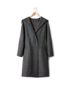 SOFT GREY | Пальто-Кокон С Капюшоном