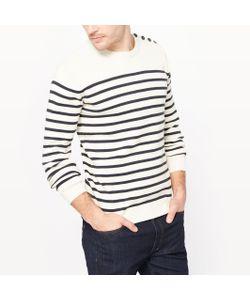 R essentiel | Пуловер-Тельняшка С Круглым Вырезом Биохлопок
