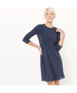 R édition | Платье Из Трикотажа С Кружевными Вставками