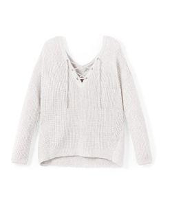 Only | Пуловер С V-Образным Вырезом И Шнуровкой