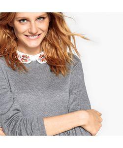 MADEMOISELLE R | Пуловер С Отложным Воротником И Декоративным Украшением Из Шерсти
