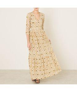 Stella Forest | Платье Длинное С Принтом Из Люрексовой Нити