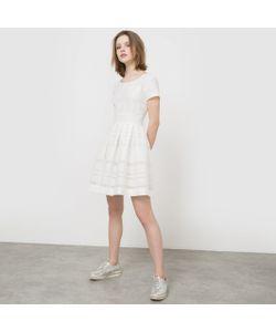 MADEMOISELLE R | Платье С Короткими Рукавами Из Вуали В Полоску