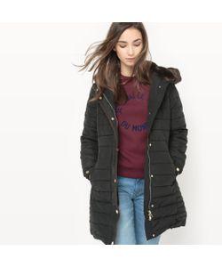 Esprit | Куртка Стеганая Длинная С Капюшоном