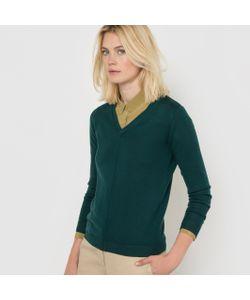 R essentiel | Пуловер С V-Образным Вырезом Из 100 Шерсти Мериноса