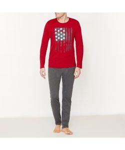 Мини-цена | Пижама Двухцветная С Длинными Рукавами Из Хлопкового Джерси