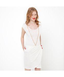 SOFT GREY | Платье С Драпировкой 100 Льна