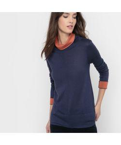 R essentiel | Пуловер Двухцветный Воротник-Хомут Шерсть В Составе