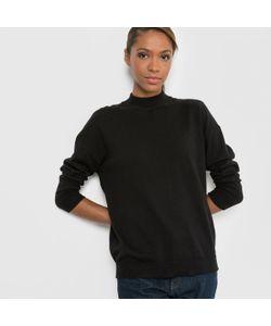 R essentiel | Пуловер С Высоким Воротником Из Кашемира И Хлопка