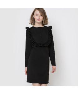 MADEMOISELLE R | Платье Из Трикотажа С Манишкой И Воланом Спереди