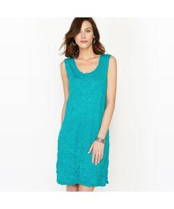 ANNE WEYBURN | Платье Однотонное С Жатым Эффектом