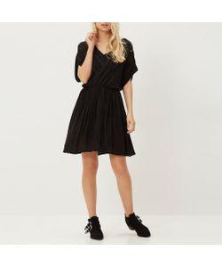 Vero Moda | Платье Из Струящейся Ткани И Кружева С Короткими Рукавами Crinkla