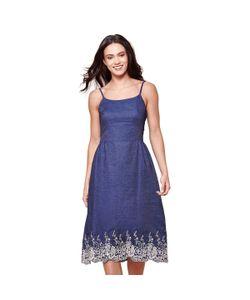 Yumi | Платье Длинное С Тонкими Бретелями Из Кружева 100 Хлопок