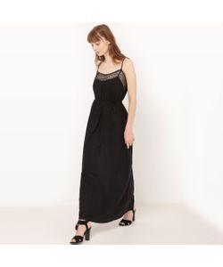Molly Bracken | Платье Длинное С Тонкими Бретелями И Вышивкой