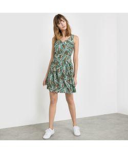 R studio | Платье Из Струящейся Ткани Без Рукавов С Рисунком Листья V-Образным Вырезом