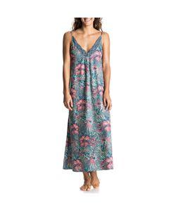 Roxy | Платье Длинное На Тонких Бретелях С Цветочным Рисунком