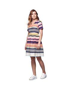 Yumi | Платье Расклешенное В Разноцветную Полоску