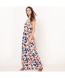 Vila | Платье Длинное С Принтом На Тонких Бретелях