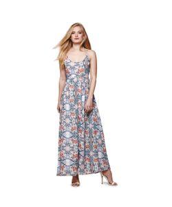 Yumi | Платье Длинное С Тонкими Бретелями И Цветочным Рисунком