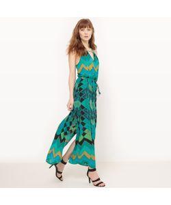 Molly Bracken | Платье Длинное С Тонкими Бретелями И Рисунком