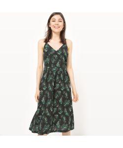 MADEMOISELLE R | Платье На Тонких Бретелях С Принтом Листья