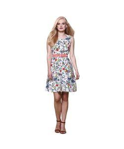Yumi | Платье Без Рукавов С Цветочным Рисунком Расклешенное От Пояса