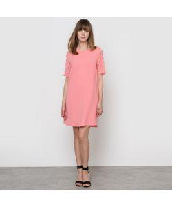 MADEMOISELLE R | Платье Из Двух Материалов С Цветочным Рисунком