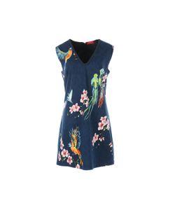 Rene Derhy | Платье Прямое С V-Образным Вырезом И Цветочным Рисунком