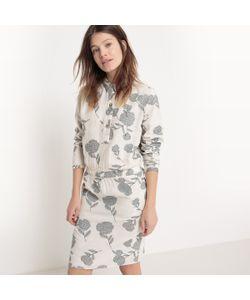 R studio   Платье С Рубашечным Воротником Длина До Колен С Рисунком