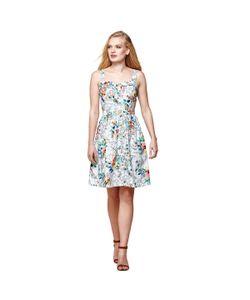 Yumi | Платье Расклешенное С Тонкими Бретелями И Цветочным Рисунком 100 Хлопок