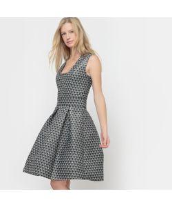 R édition | Платье Жаккардовое С Квадратным Вырезом
