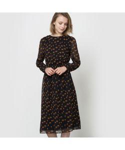 See U Soon | Платье-Миди Из Вуали С Длинными Рукавами И Рисунком