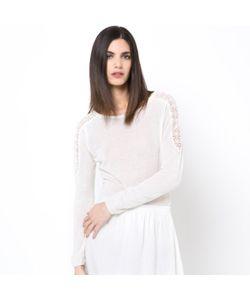 LAURA CLEMENT | Пуловер С Гипюровыми Вставками 40 Льна 30 Шелка