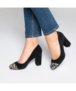 MADEMOISELLE R | Туфли Кожаные С Вышивкой На Мысках
