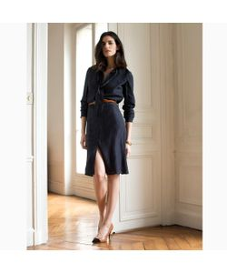 LAURA CLEMENT | Платье С Бантом-Галстуком Из Шелка В Горошек