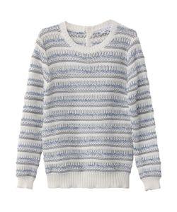 Suncoo   Пуловер Хлопковый С Круглым Вырезом