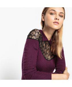 MADEMOISELLE R | Пуловер С Рубашечным Воротником И Кружевной Вставкой