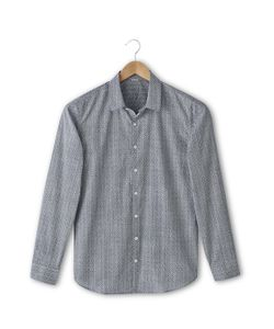 SOFT GREY | Рубашка С Рисунком Облегающего Покроя