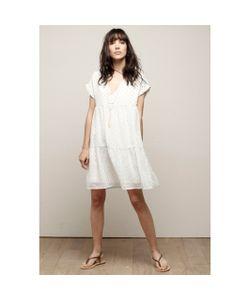 Charlise | Платье Расклешенное С Короткими Рукавами И Вышивкой Золотистого Цвета