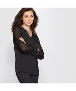 ANNE WEYBURN | Блузка Из Крепа С Вышивкой Гладью
