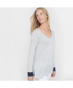 R essentiel | Пуловер С Двухцветными Отворотами Шерсть В Составе