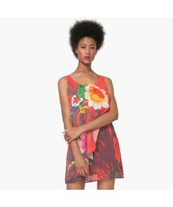 Desigual | Платье Короткое Без Рукавов С Цветочным Рисунком