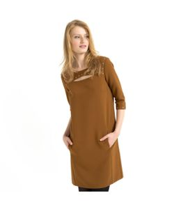 SOFT GREY | Платье С Рукавами 3/4 И Заклепками