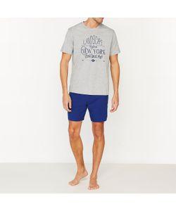Мини-цена | Пижама С Шортами Двухцветная Из Хлопкового Джерси